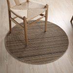 Alfombra circular de bambú