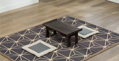 alfombra obscura bambu